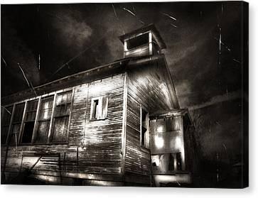 School House Rot Canvas Print by Karri Klawiter