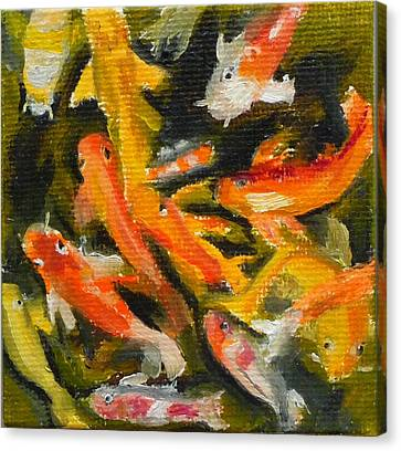 School Of Koi Canvas Print