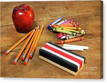 School Supplies  Canvas Print by Sandra Cunningham