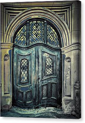 Schoolhouse Entrance Canvas Print by Jutta Maria Pusl