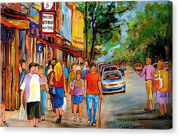 Schwartz's Hebrew Deli Canvas Print by Carole Spandau