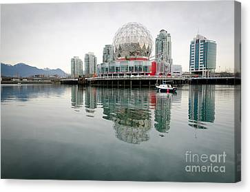 Science World Telus World Of Science Vancouver Bc Canada Canvas Print