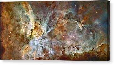 Scientists Add Colors Based On Light Canvas Print by ESA and nASA