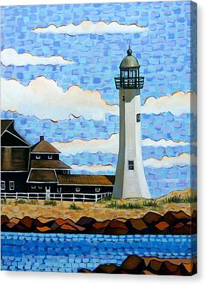 Scituate Light House Canvas Print