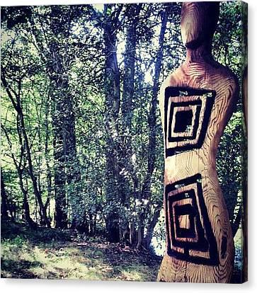 Scorched Wooden Lady Canvas Print by Natasha Futcher