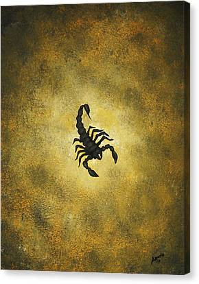 Canvas Print featuring the painting Scorpion by Edwin Alverio