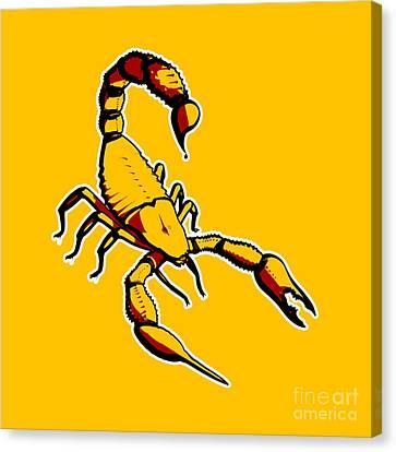 Scorpion Graphic  Canvas Print
