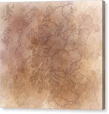 Scotland Canvas Print by Sheep McTavish