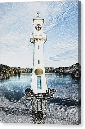 Canvas Print featuring the photograph Scott Memorial Roath Park Cardiff 3 by Steve Purnell