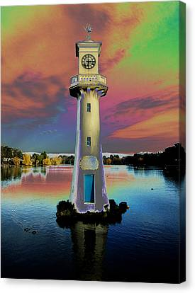 Canvas Print featuring the photograph Scott Memorial Roath Park Cardiff 4 by Steve Purnell