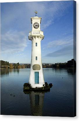 Canvas Print featuring the photograph Scott Memorial Roath Park Cardiff by Steve Purnell