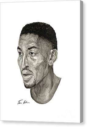 Scottie Pippen Canvas Print by Tamir Barkan