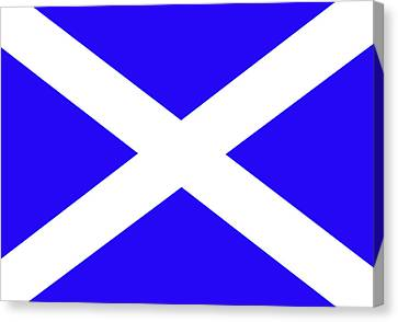 Scottish Flag Canvas Print