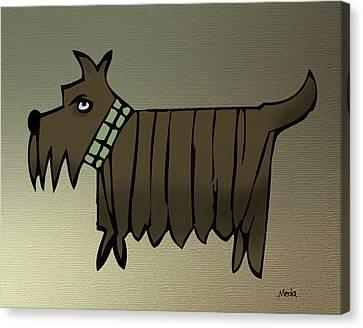 Scottish Dog Canvas Print - Scottish Terrier by Daniel Meola