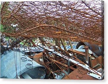 Scrap Yard Canvas Print