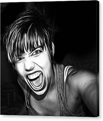 Scream 2 Canvas Print by Tilly Williams