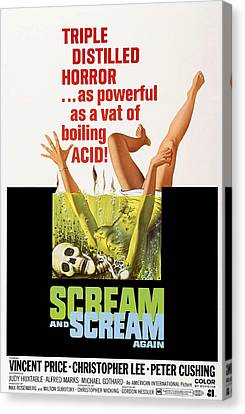 Scream And Scream Again, 1-sheet Poster Canvas Print by Everett