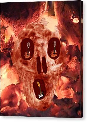 Scream Music Canvas Print by Eric Kempson