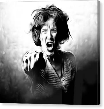 Scream Canvas Print by Tilly Williams
