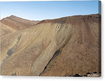 Scree Slope, Canadian Arctic Canvas Print