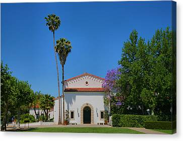 Scripps College Grounds Canvas Print by Steven Ainsworth