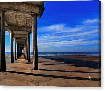 Scripps Pier Late Afternoon Canvas Print by Russ Harris