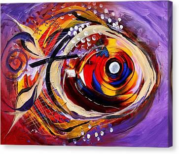 Scripture Fish Canvas Print by J Vincent Scarpace