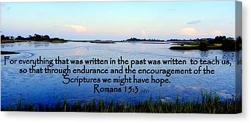 Scripture For Hope Canvas Print by Sheri McLeroy
