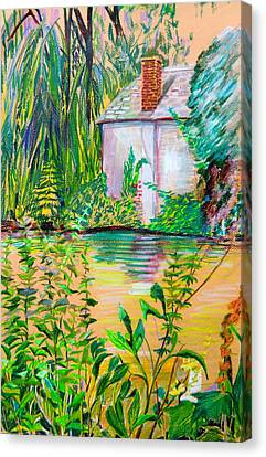 Peaches Canvas Print - Sculptors Home And Studio On Oxfordshire Canal by Mindy Newman