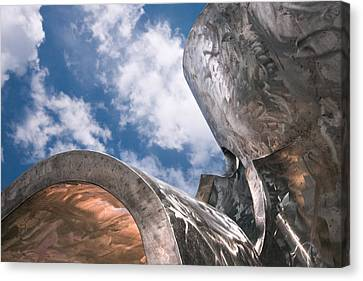 Canvas Print featuring the photograph Sculpture And Sky by Tom Gort