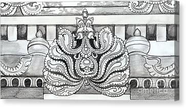 Sculpture Design Canvas Print by Shashi Kumar