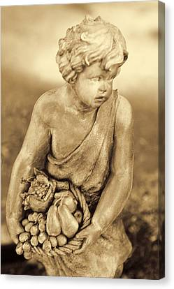 Sculpture In Sepia Canvas Print by Linda Phelps