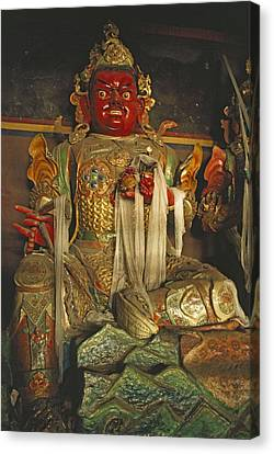 Sculpture Of Wrathful Protective Deity Canvas Print by Gordon Wiltsie