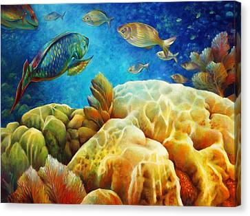 Pennekamp Canvas Print - Sea Escape I - Color Queens by Nancy Tilles