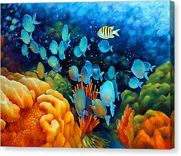 Pennekamp Canvas Print - Sea Escape II - Wayward Fish by Nancy Tilles