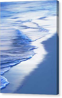 Sea Foam Canvas Print by Suni Roveto