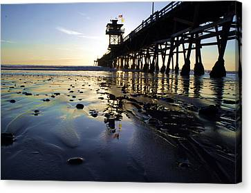 Sea Glass And Flags Canvas Print by Kevin Moore