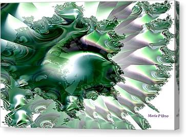 Sea Of The Emerald Whale Canvas Print by Maria Urso