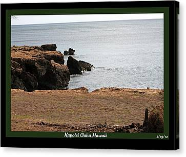 Canvas Print featuring the photograph Sea Side  by Elizabeth  Doran