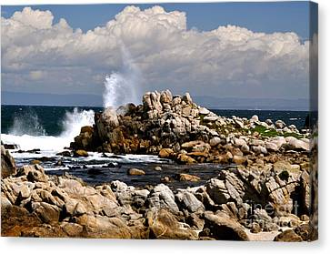 Canvas Print featuring the photograph Sea Sky And Clouds by Johanne Peale