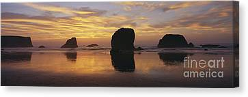 Sea Stacks Canvas Print by Chromosohm Media Inc and Photo Researchers