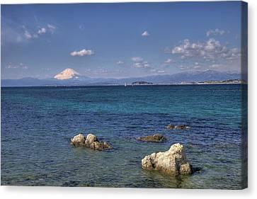 Canvas Print featuring the photograph Sea by Tad Kanazaki