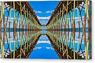 Pier Canvas Print - Sea Trestle by Betsy Knapp