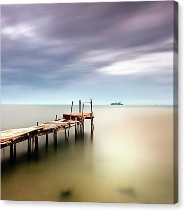 Clouds Over Sea Canvas Print - Sea View by Vassilis Tangoulis