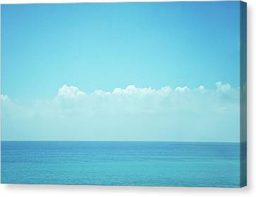 Clouds Over Sea Canvas Print - Sea With Sky And Clouds by Yiu Yu Hoi