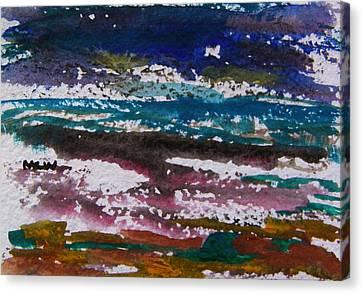 Seacoast Evening Canvas Print by Mary Carol Williams