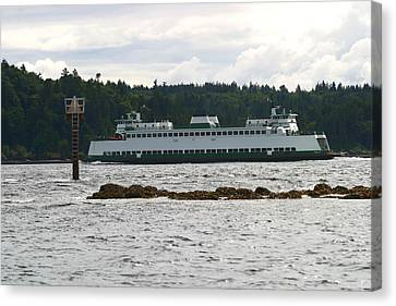 Canvas Print featuring the photograph Sealth Ferryboat Rich Passage by Kym Backland