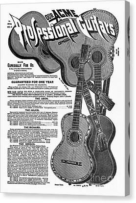 Sears Ad - Guitars 1902 Canvas Print by Granger