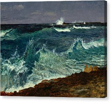 Seascape Canvas Print by Albert Bierstadt