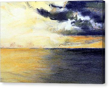 Seascape And Sky Canvas Print by Jon Shepodd